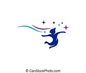 ベクトル, ロゴ, 概念, 子供