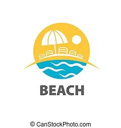 ベクトル, ロゴ, 浜