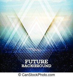ベクトル, 三角形, 抽象的, 未来
