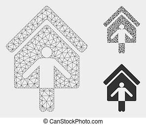 ベクトル, 三角形, 死体, wellcome, 家, 噛み合いなさい, 所有者, モデル, モザイク, アイコン