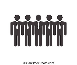ベクトル, 仕事, グループ, 人々, アイコン