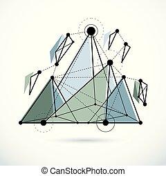 ベクトル, 低い, 抽象的, poly, 技術, 概念, 等大, 科学, 建設, 背景。, illustration.