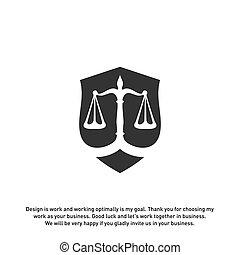 ベクトル, 保護, ロゴ, 会社, ギリシャ, コラム, 法律, 裁判官, オフィス, スケール。, 形態