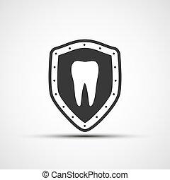 ベクトル, 保護, 人間, 歯
