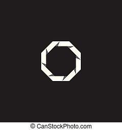 ベクトル, 八角形, イラスト