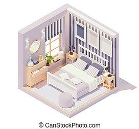 ベクトル, 内部, 寝室, 等大