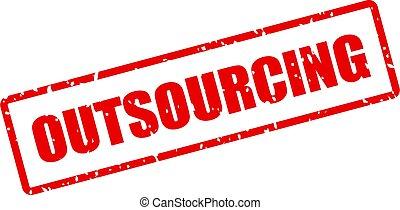 ベクトル, 切手, outsourcing