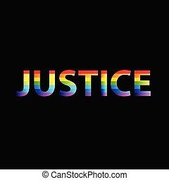 ベクトル, 単語, テキスト, 正義, カラフルである, イメージ