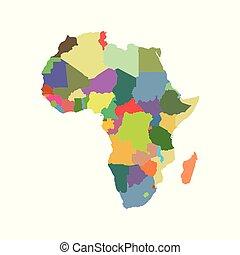 ベクトル, 地図, の, アフリカ