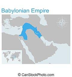 ベクトル, 地図, babylonian, 帝国