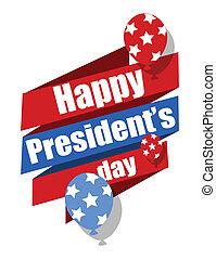 ベクトル, 大統領, グラフィック, 日, 幸せ