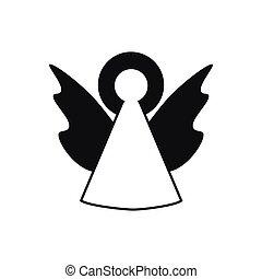 ベクトル, 天使, アイコン