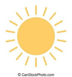 ベクトル, 太陽, icon., 96x96, pictogram, 単純である, 最小である
