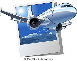 ベクトル, 定期旅客機, 漫画
