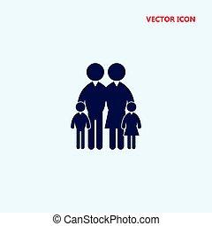 ベクトル, 家族, アイコン