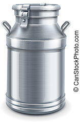 ベクトル, 容器, 隔離された, 牛乳缶