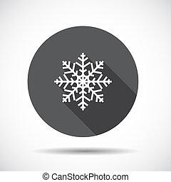 ベクトル, 平ら, アイコン, クリスマス, shadow., 長い間, illustration.