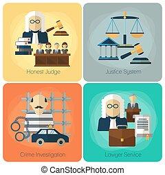 ベクトル, 平ら, 順序, 概念, 正義, 法的, セット, サービス, 法律