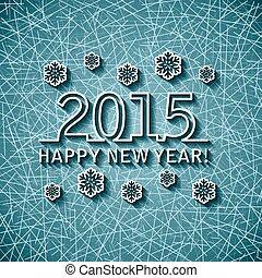 ベクトル, 年, 2015, 新しい, カード, 幸せ