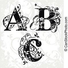 ベクトル, 手紙, abc