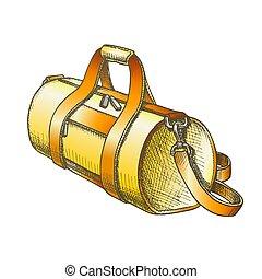 ベクトル, 手荷物, 円筒状である, スポーツ, 色, 袋