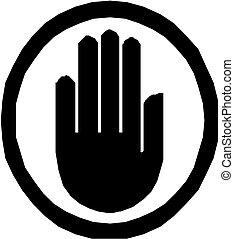 ベクトル, 手, アイコン