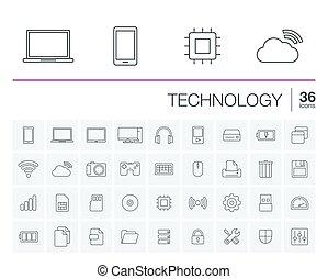 ベクトル, 技術, デジタル, アイコン