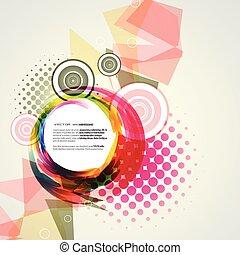 ベクトル, 抽象的なデザイン