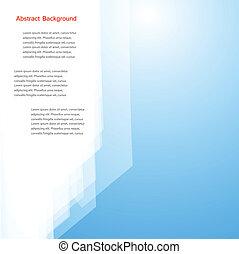 ベクトル, 抽象的, バックグラウンド。, 多角形, 青, そして, カード