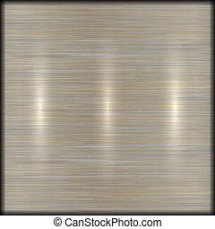 ベクトル, 抽象的, ブラシをかけられた金属, 手ざわり, 背景
