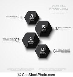 ベクトル, 抽象的, 多角形, 背景, イラスト, infographic, テンプレート, ∥で∥, 場所,...