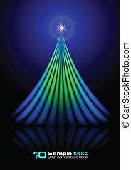 ベクトル, 抽象的, 木。, クリスマス, design.