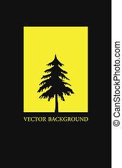 ベクトル, 抽象的, 木。, illustration., 背景