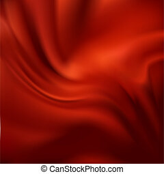 ベクトル, 抽象的, 絹, 赤, 手ざわり
