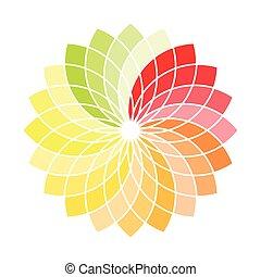 ベクトル, 抽象的, 色, 車輪