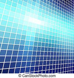ベクトル, 抽象的, 青いライト, モザイク, バックグラウンド。