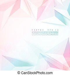 ベクトル, 抽象的, triangle., 多角形, 背景