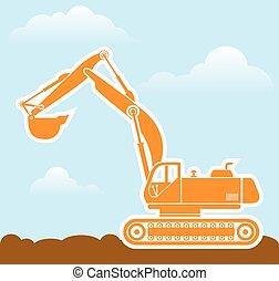ベクトル, 掘削機