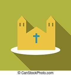ベクトル, 教会, icon., 漫画, イラスト