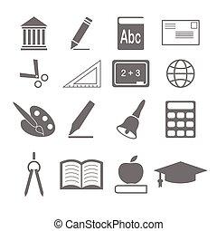 ベクトル, 教育, アイコン