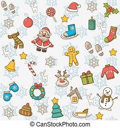 ベクトル, 新年おめでとう, そして, メリークリスマス, パターン