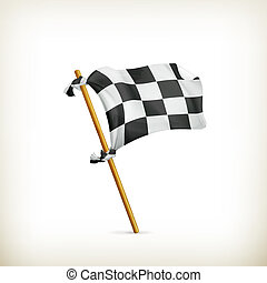 ベクトル, 旗, checkered