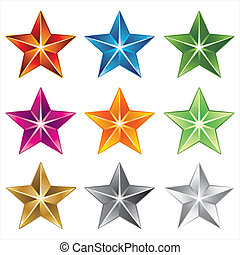 ベクトル, 星, アイコン