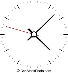 ベクトル, 時計, アイコン, 顔