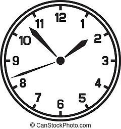 ベクトル, 時計, (timer)