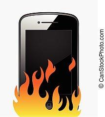 ベクトル, 暑い, smartphone, すらりとしている