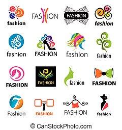 ベクトル, 最も大きい, ファッション, コレクション, アイコン