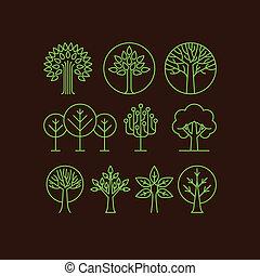 ベクトル, 有機体である, アイコン, 木