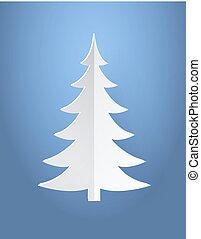 ベクトル, 木, イラスト, ペーパー, 作られた, クリスマス