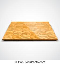 ベクトル, 木, イラスト, floor., 寄せ木張りの床